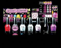 Sephora By OPI Betsey Johnson Collection. Releases in March The polish is already on sephora website. Sephora, Stripped Nails, Nail Charms, Nail Polish Sets, Opi Nails, Manicures, Glam Nails, All Things Beauty, Beauty Stuff