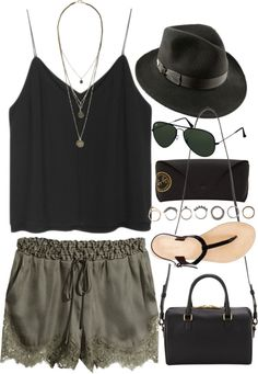 Love this outfit (except the shoes) for a music festival!