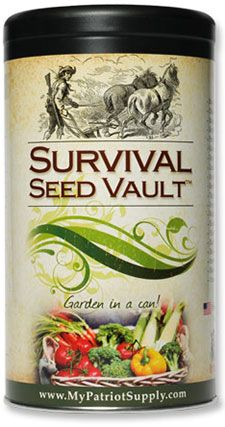 MyPatriotSupply.com -- offers survival seeds for immediate use or to add to your emergency prep storage. They also offer a layaway program!