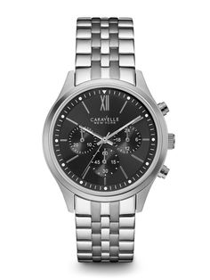 Caravelle New York Men's #43A133 Watch | Retail Price: $90 | In-stock watches are 30% OFF and catalog orders are 25% OFF! | Click website for watch details | Andrew Gallagher Jewelers, Newark, DE | 302-368-3380 | WE SHIP!!! DON'T FORGET! There is NO Sales Tax in Delaware!!! |