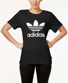 394e9b2dd adidas Originals Boyfriend Trefoil T-Shirt & Reviews - Tops - Women - Macy's