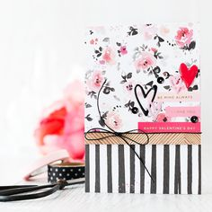Layering papers & stickers for a quick and easy valentine card. Find out more by clicking the following link: http://limedoodledesign.com/2016/02/layering-papers-stickers/