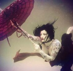 #Underwater #Umbrella #Tattoos #Photography