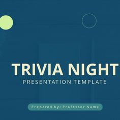 A free presentation template to prepare a Trivia in PowerPoint.