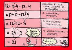 Laskujärjestys, esimerkki.