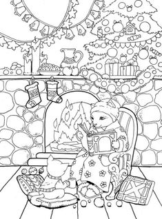 Adult Coloring Book: Nice Little Town Christmas Camping Coloring Pages, Dance Coloring Pages, Puppy Coloring Pages, Cat Coloring Page, Adult Coloring Book Pages, Free Coloring Pages, Coloring For Kids, Printable Coloring Pages, Coloring Books