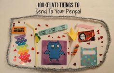 Struggling for ideas of cheap, flat things you can send with your letters? Here's a list of 100 things to send to your penpals.