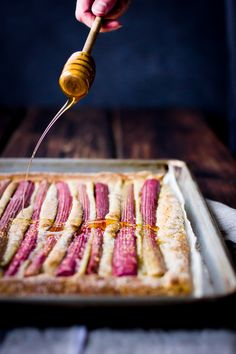 Rustic Rhubarb, Almond and Honey Tart (GF)
