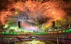 London 2012 Olympics Stunning ending: fireworks over the stadium