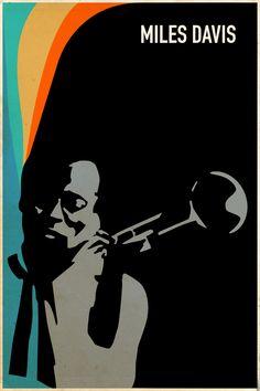 A collection of original, minimally designed jazz posters. Jazz Poster, Blue Poster, Blues Rock, Caricatures, Jazz Art, Music Illustration, Miles Davis, Jazz Musicians, Jolie Photo