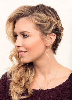 Side Wrap Braid | 24 Perfect Prom Hairstyles | Makeup Tutorials Guide
