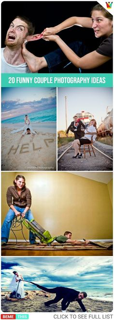20 Funny Couple Photography Ideas #photos #photography #couples #relationship #humor #photoshoot #funnypics #bemethis