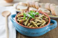 Penne Pasta with Sun-dried Tomatoes and Pesto - Analida's Ethnic Spoon