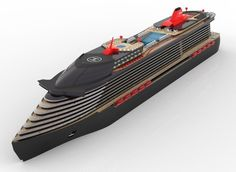 A concept for a modern cruise ship, made through Solid Edge and Keyshot. Big Yachts, Super Yachts, Luxury Yachts, Yacht Design, Boat Design, Yatch Boat, Biggest Cruise Ship, Floating Architecture, Yacht World