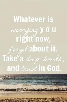Trust God with it All