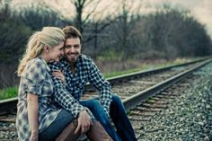 Urban Anthro-inspired - love pictures with railroad tracks in the background.