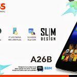 Evercoss A26B, Smartphone Android Tahan Banting Dengan Fitur Wah
