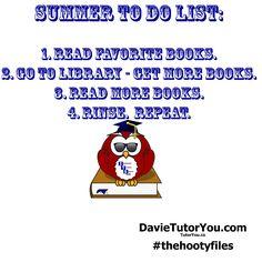 Hooty's Summer To Do List