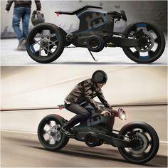 Husqvarna Concept by Kiska Design. #husqvarna #motorcycle #caferacer #motorsports #megadeluxe #tw
