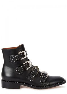 GIVENCHY ELEGANT BLACK STUDDED LEATHER BOOTS. #givenchy #shoes #