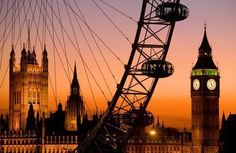 London at sunset!