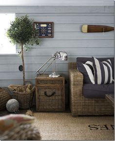 coastal living room I love coastal decor of all kinds Beach Cottage Style, Beach House Decor, Coastal Style, Coastal Decor, Home Decor, Lake Cottage, Coastal Interior, Room Interior, Coastal Bedrooms