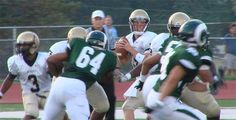 Bishop McDevitt QB Alec Werner looks for a receiver during Friday night's game against Central Dauphin. (09/07/12)