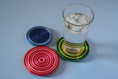 Use for that leftover curling ribbon-coasters!  :)