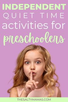 Need some independent activities for preschoolers? We've got quiet time activities for non-nappers that will keep your toddlers busy at home- and out of your hair, so you can get things done. Quiet Time Activities, Motor Skills Activities, Outdoor Activities For Kids, Preschool Activities, Infant Activities, Toddler Preschool, Boredom Busters For Kids, Toddler Art Projects, Stem For Kids