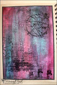 Meresanth Krafts: Art journaling z efektem crackle / Crackle effect art journaling