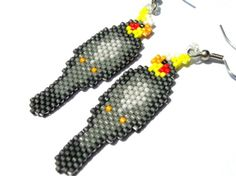 Grey Cockatiel Seed Bead Bead woven Brick by fantasybeader on Etsy, $20.00