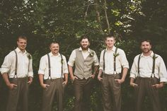 brown and white groomsmen http://www.weddingchicks.com/2013/09/27/wisconsin-wedding/