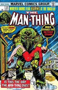 """The Man-Thing #22 """"""""Pop Goes the Cosmos!"""""""" (October, 1975)"""