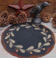 redware flower table mat