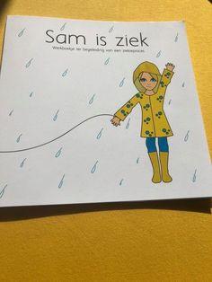 'Sam is ziek' is een werkboekje voor kinderen die kanker hebben. In dit werkboekje kunnen ze tekeningen maken of teksten schrijven om zo hun ziekte een plekje te kunnen geven.  Het boekje is verkrijgbaar bij Flow boekensteun in Sittard of via een PB op deze pagina. Om, Snoopy, Fictional Characters, Fantasy Characters