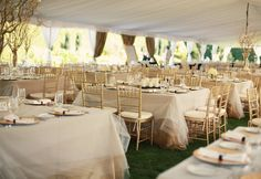 gorgeous tulle covered tables by Steven Moore Designs
