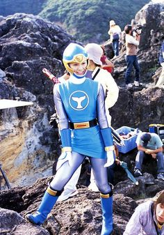 Nagasawa as Hurricaneblue.Ninpuu Sentai HurricangerNao Nagasawa as Hurricaneblue. Power Rangers Funny, Power Rangers Ninja Storm, Go Go Power Rangers, Original Power Rangers, Power Rengers, Japanese Superheroes, Basara, Warrior Girl, Cute Japanese