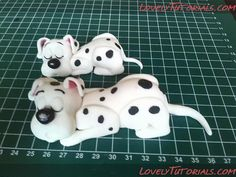 Dalmatian cake topper tutorial