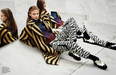 visual optimism; fashion editorials, shows, campaigns & more!: kaléidoscope: anna selezneva by jacob sutton for numéro #155 august 2014