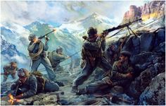 Soviet Mountain Troops in the Caucasus Mountains . 1942