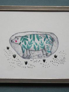 Julie Daleyden gravure -- L'ours polaire