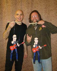 Joe Satriani and his Darrionette marionette