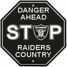 NFL Oakland Raiders Stop Sign by Fremont Die. $7.98. NFL Stop Sign