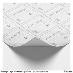 Vintage cape hatteras lighthouse blueprint 2 wrapping paper vintage cape hatteras lighthouse blueprint wrapping paper malvernweather