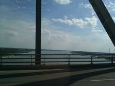 Crossing the bridge in lake Charles