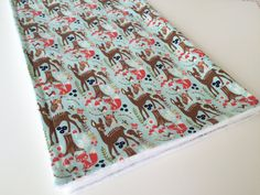 Check out this item in my Etsy shop https://www.etsy.com/uk/listing/260962230/baby-blanket-minky-baby-blanket-woodland