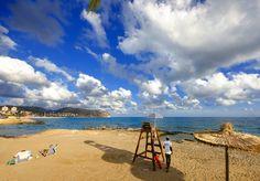 #Strand les Platgetes in #Moraira aan de #CostaBlanca op een mooie heldere dag in september.