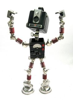 IBM - Found Object Robot Assemblage Sculpture Action Figure By Brian Marshall by adopt-a-bot, via Flickr