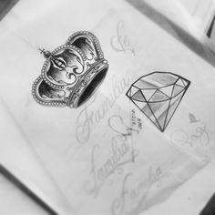 Resultado de imagem para desenho do diamante com coroa