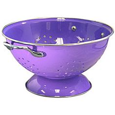 @Overstock - This peppy purple colander is a must-have for the well-stocked kitchen. The perfectly placed holes make for easy draining.http://www.overstock.com/Home-Garden/Reston-Lloyd-Calypso-Basics-5-quart-Purple-Colander/4124131/product.html?CID=214117 $16.49